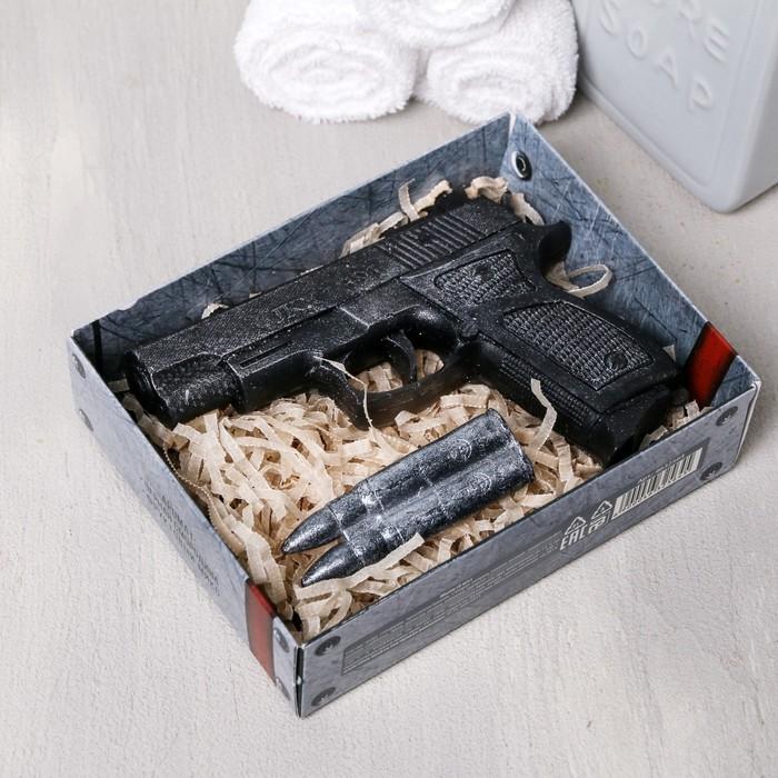 """Набор """"23 Февраля"""" мыло пистолет, мыло пуля - фото 487612"""