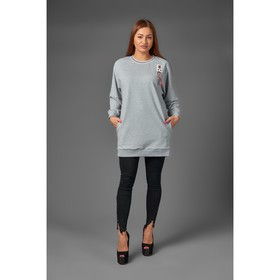 Women's tunic, gray, size 50-52