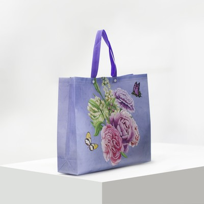 Bag the Flowers 38*11*40 the division on 2 buttons, lilac