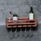 """Полка для кухни винная """"Атлантик"""", цвет коричневый, 46 х 15 х 9 см"""