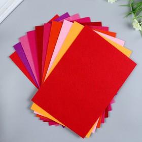 A set of felt pads (hard) 1 mm 20x30 cm 10 sheets CV. red meats