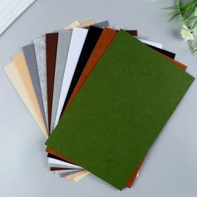 A set of felt pads (hard) 1 mm 20x30 cm 10 sheets CV. dark meats