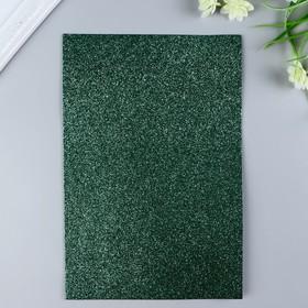 Foamiran glitter Magic 4 Hobby 2 mm col. green, 20x30 cm