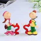 "Set of 2 figurines ""Love/Kiss me"" 8х8х10,5 cm"