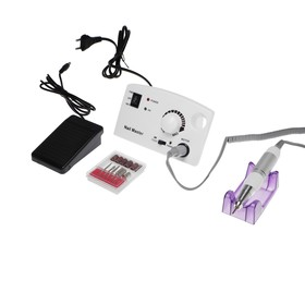 Аппарат для маникюра и педикюра JessNail JD4500 BL, 30 000 об/мин, 35 Вт, белый