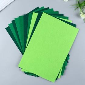 A set of felt pads (hard) 1 mm 20x30 cm 10 sheets CV. green cuts