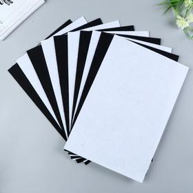 A set of felt pads (hard) 1 mm 20x30 cm 10 sheets CV. white,black
