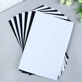 Set felt (soft) 1 mm 20x30 cm 10 sheets CV. white,black