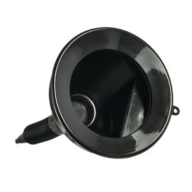 Gas funnel Oktan with spill, neck diameter 135 mm, black