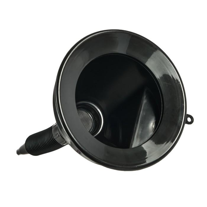 Воронка ГСМ Oktan с непроливайкой, диаметр горлышка 135 мм, черная