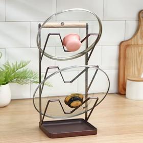 {{photo.Alt || photo.Description || 'Подставка для крышек Доляна «Лофт», 16×13×33,5 см, цвет коричневый'}}