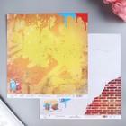 """Бумага для скрапбукинга """"Mr.Painter""""  """"Ритм города"""" 190 г/кв.м  30.5 x 30.5 см"""
