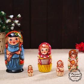 Матрёшка «Борис с балалайкой», 5 кукольная, 14 см