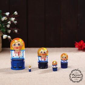 "Matryoshka ""Russian boy"" 5 doll 9 cm"