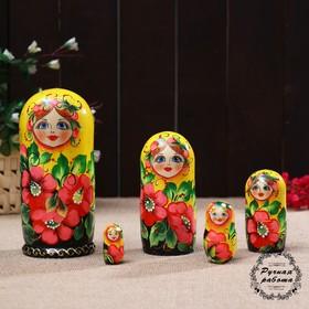 Матрёшка «Матрешка»,Флора желт./черн.5 кукольная, 17 см