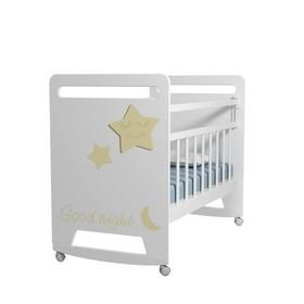 Кровать детская Good Night Star колесо-качалка (белый) (1200х600 )