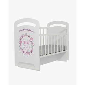Кровать детская Mon Amur колесо-качалка с маятником  (белый) (1200х600