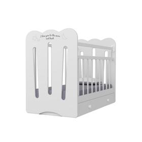 Кровать детская Desire маятник с ящиком  (белый)  (1200х600)