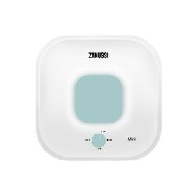 Водонагреватель Zanussi ZWH/S 15 Mini U, 2500 Вт, накопительный, 15 л, бело-зелёный