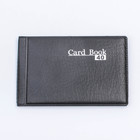 Business card holder 40 cards, 1 map on 1 sheet, 2 cards are placed in 1 cell, cover PVC, black