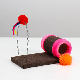 """Toy scratching post with the teaser """"Jolly balls"""" 29 x 15.5 x 20 cm"""