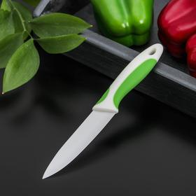 Нож керамический Доляна «Умелец», лезвие 10 см, цвет МИКС