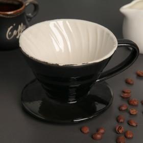 {{photo.Alt || photo.Description || 'Воронка -дриппер V60 для заваривания кофе «Пуровер», керамика, 10×8 см'}}