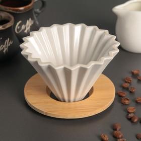 {{photo.Alt || photo.Description || 'Воронка -дриппер V60 для заваривания кофе «Пуровер», керамика 12×8 см'}}