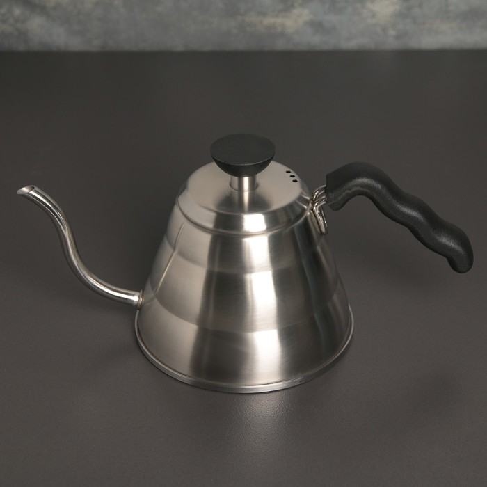 Кофейник с длинным носиком «Пуровер», 1 л , 304 сталь - фото 716674