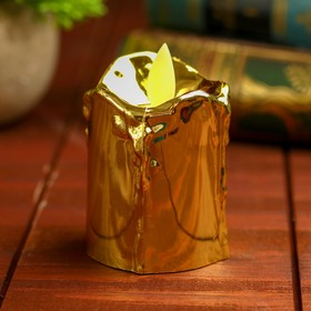 """Led candle """"Shine"""" lights up yellow, the color gold , model SV-12"""