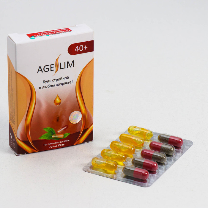 Блистер для контроля массы тела, AgeSlim 40+, №20*500 мг