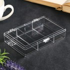 "Plastic box for trifles ""division 3"" transparent 2,5х9х12,7 cm"