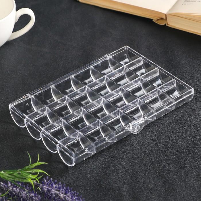 "Шкатулка пластик для мелочей ""24 деления"" прозрачная 2,5х12,7х18 см"