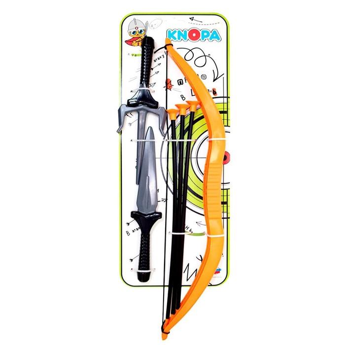 Набор оружия «Ниндзя», кинжал, саи, лук, 3 стрелы - фото 105576853