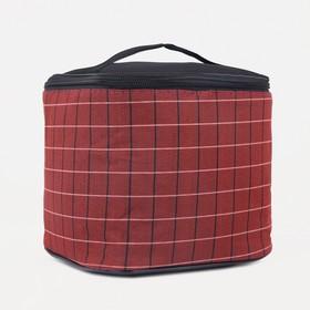 Сумка-термо, отдел на молнии, цвет бордовый