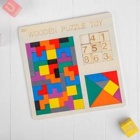 Головоломка 3 в1 «Зигзаг + танграм + пятнашки» 0,6×30×30 см