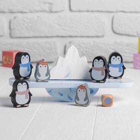 Развивающая игра-балансир «Пингвины» 7,5 × 24 × 11 см