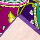 Полотенце пляжное велюровое Bradley 80х170 см, розовый, хлопок 100%, 500 г/м2 - фото 1395931