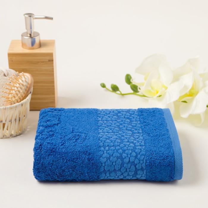 Полотенце махровое Soffi 50х90 см, синий, бамбук 100%, 500 г/м2