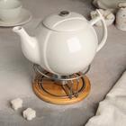 """Заварочный чайник 1,2 л с подогревом на деревянной подставке """"Эстет"""""""