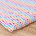 Губка для мытья посуды с пластиковым скрабером «Радуга», 13×9×1,5 см - фото 4645859