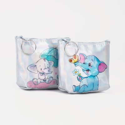 Purse children 07-01-07 Elephants, 10*2,5*9 cm, mix