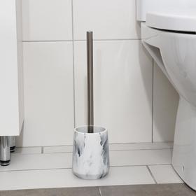 Ёрш для унитаза с подставкой «Мрамор», 10×10×36 см