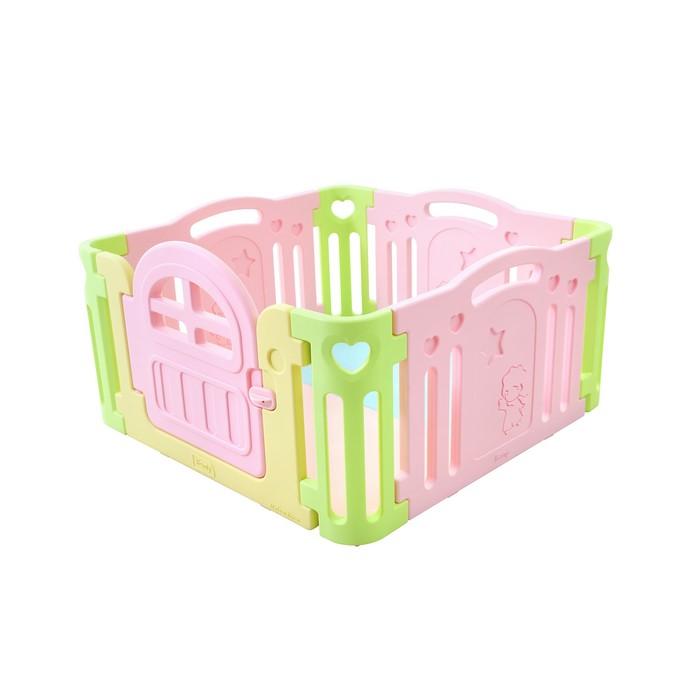 Большой детский манеж Marshmallow, розовый