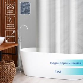 Штора для ванной комнаты Доляна «Трио», 180×180 см, EVA