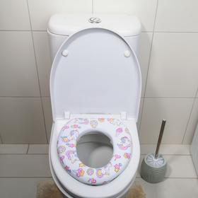 """Сиденье для унитаза детское 29×26×5 см """"Единороги"""""""