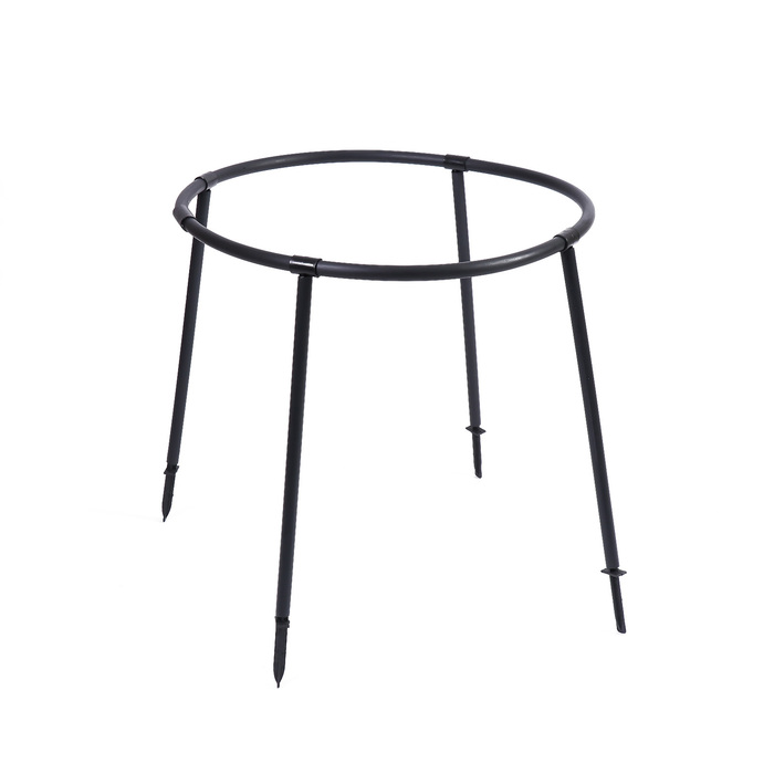 Кустодержатель, d = 64 см, h = 86 см, ножка d = 2 см, пластик, чёрный, «Смородина»