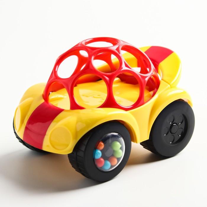 Развивающая игрушка с погремушкой «Машинка», желтая