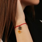 "Charm bracelet ""the Red thread. Leo"" pendant, amber"