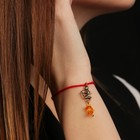 "Charm bracelet ""the Red thread. Sagittarius"" pendant, amber"